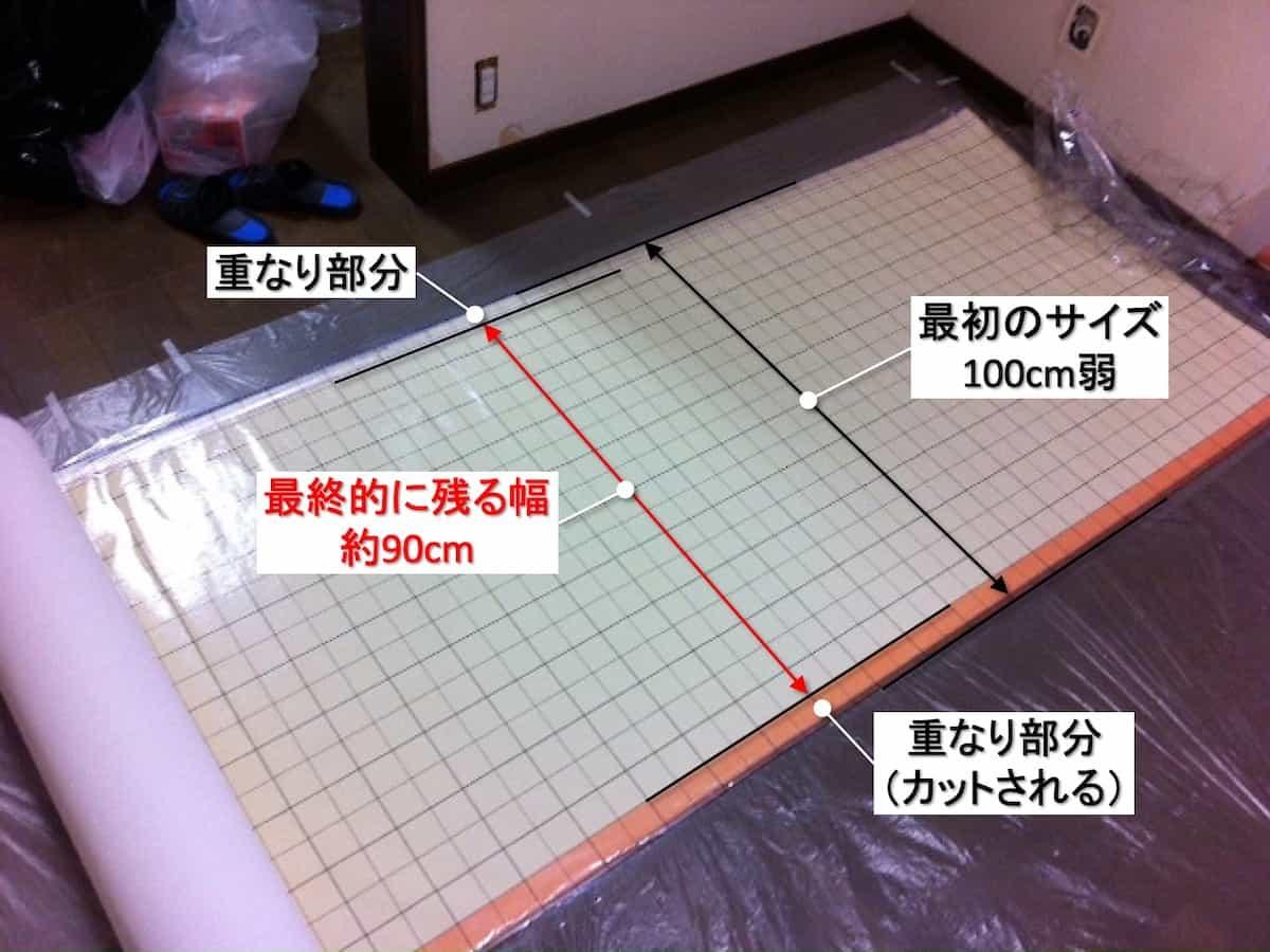 壁紙の幅と使える幅