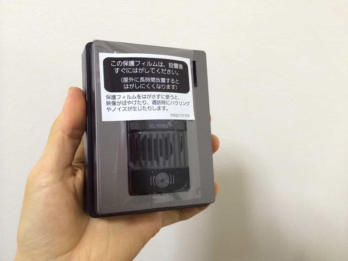 パナソニックのカメラモニター付きインターホンの屋外カメラ(子機)