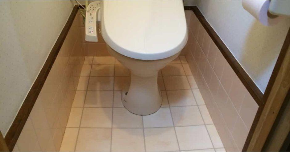 トイレのタイル床の上にクッションフロア(CF_床シート)を貼ってリメイクする方法