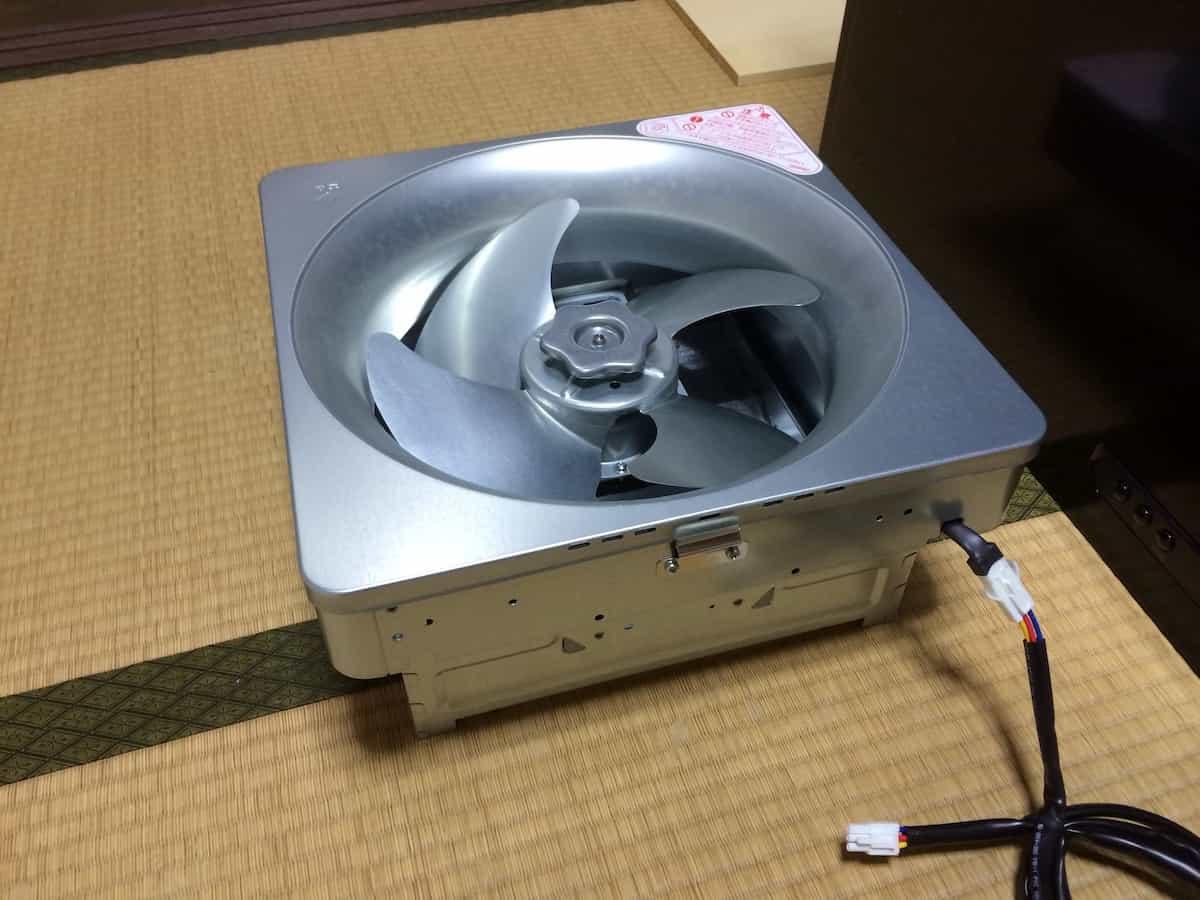 クリナップ深型レンジフードの換気扇