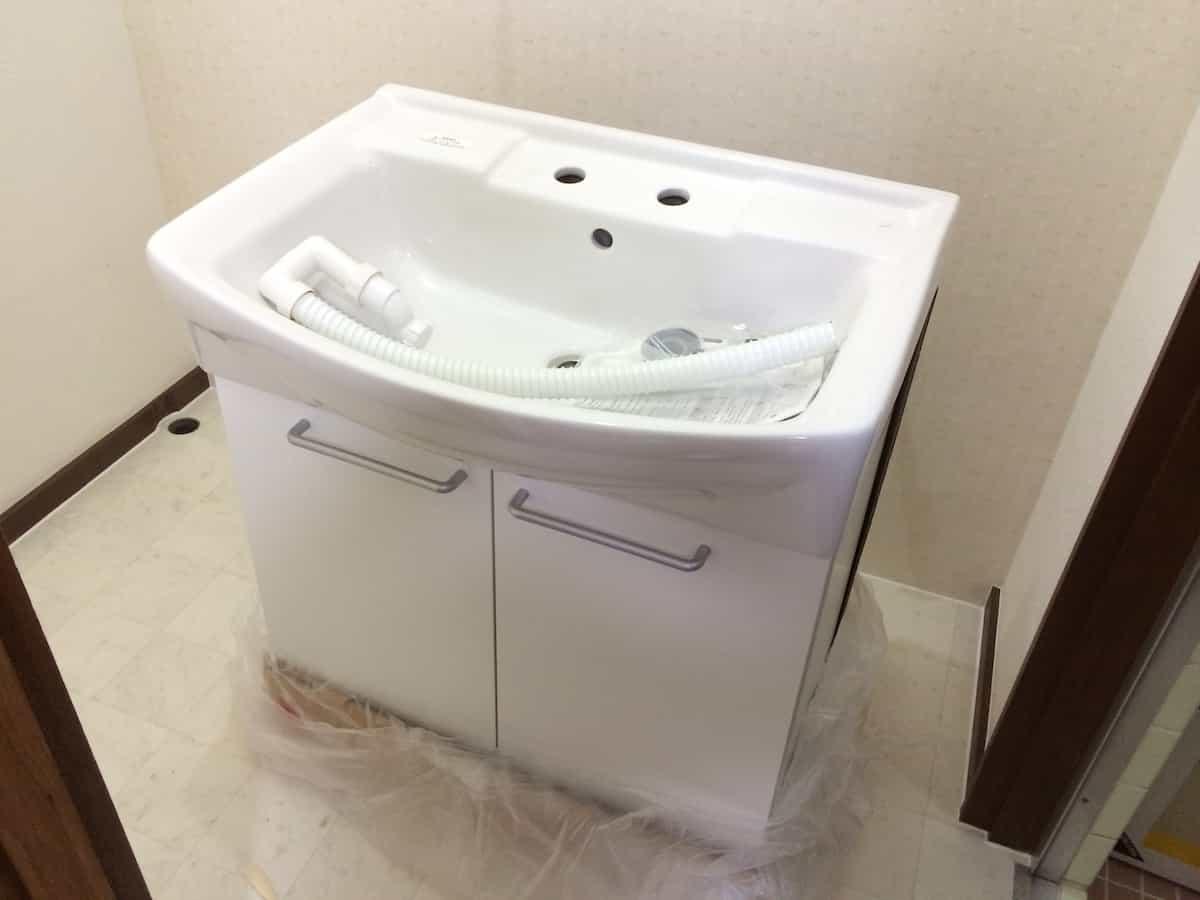 洗面化粧台の洗面台(洗面ボウル)部分