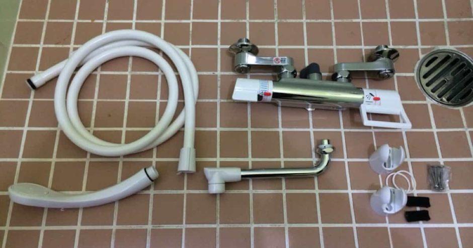 浴室シャワー水栓(蛇口)を自分で交換・取り付けする方法|サーモスタット混合栓編(壁付きタイプ)