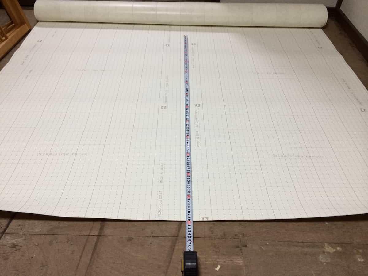 新しいクッションフロア(CF・床シート)の大きさを決める