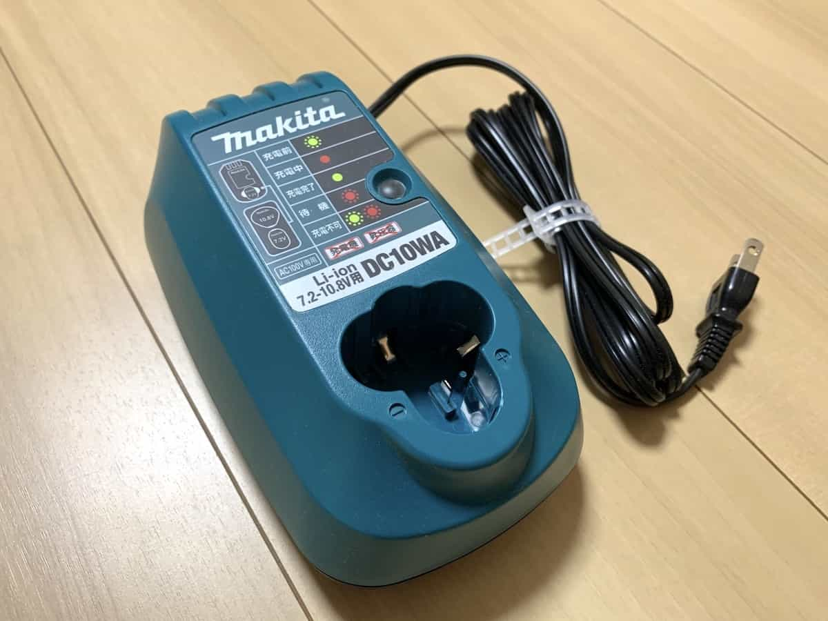 マキタの10.8V震動ドライバドリルHP330D(振動ドライバー)の7.2V〜10.8V専用充電器