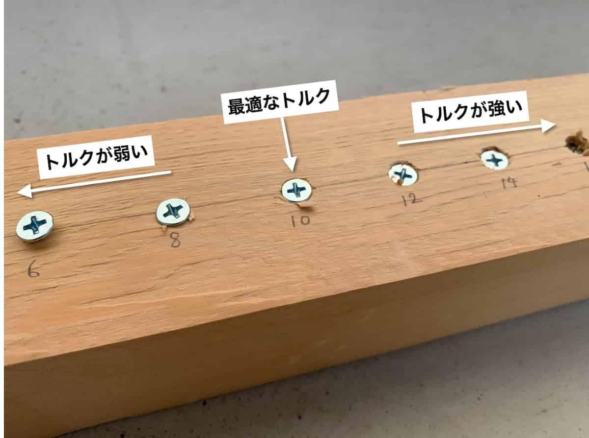 木材へのネジ締めの最適なトルク値