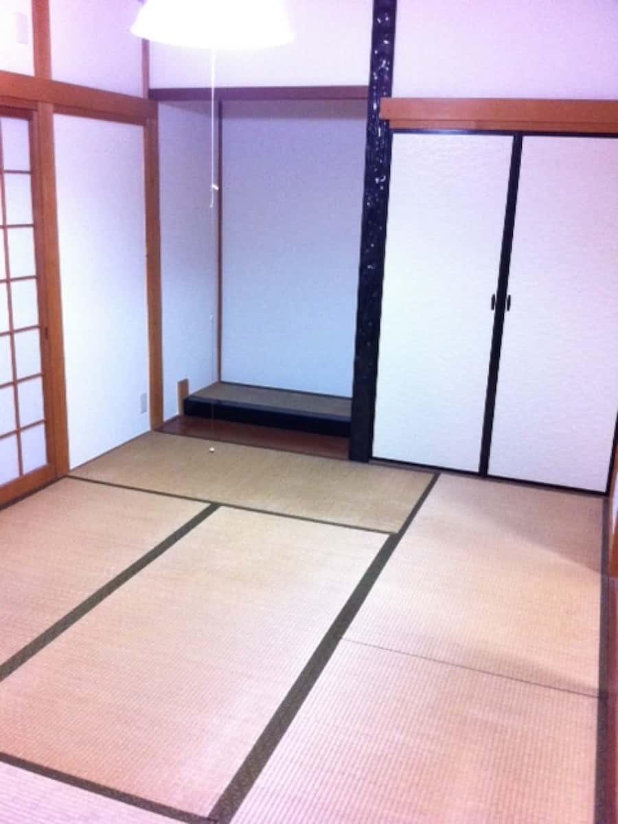 1回目の畳表替え前の様子(1F和室)