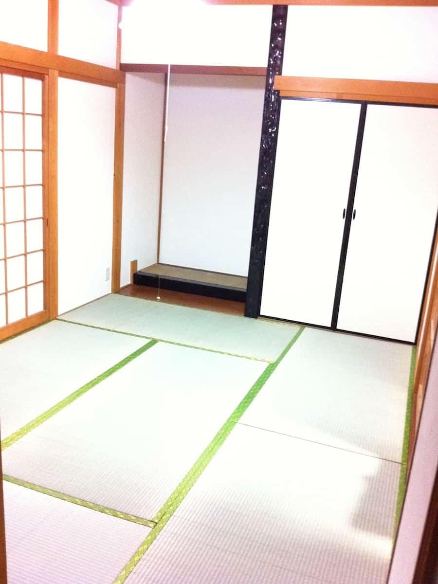 1回目の畳表替え後の様子(1F和室)