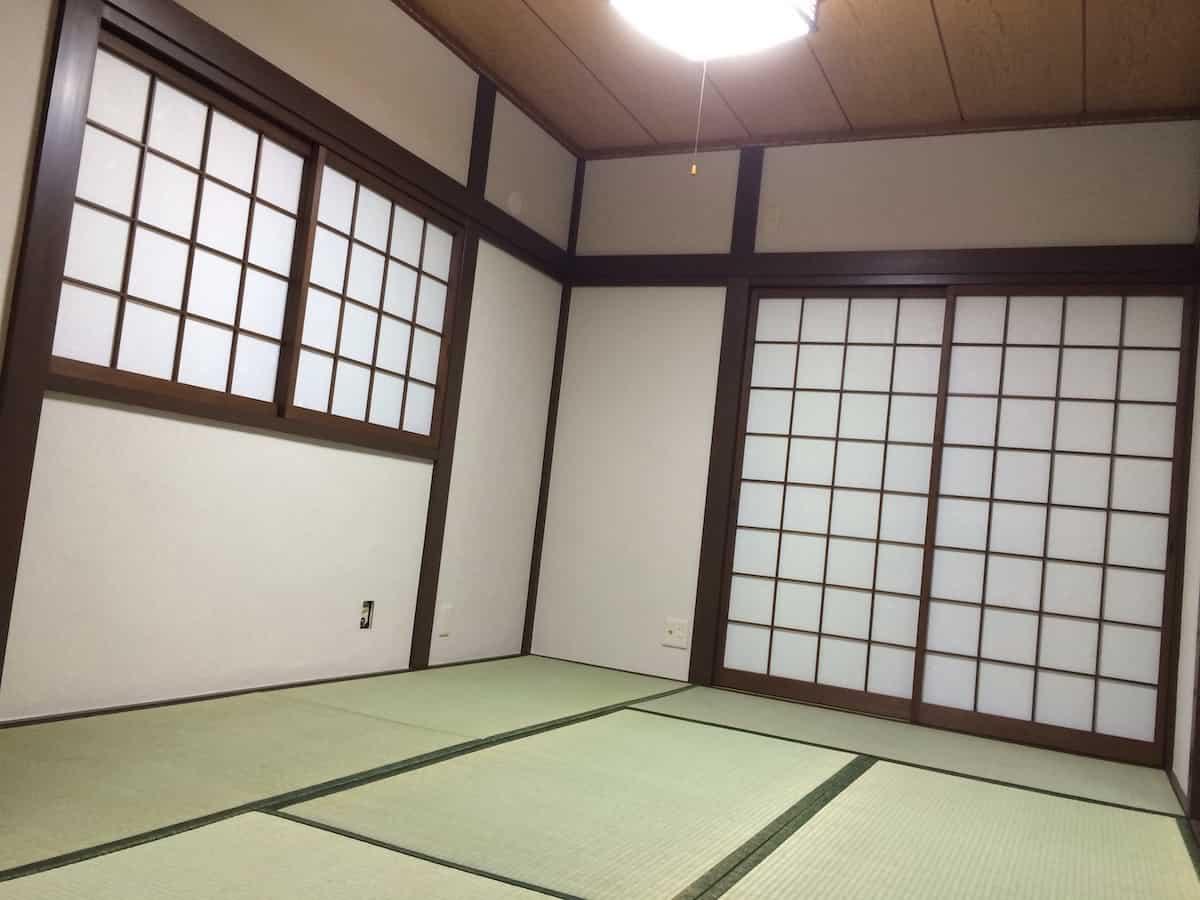 畳表替え後の和室