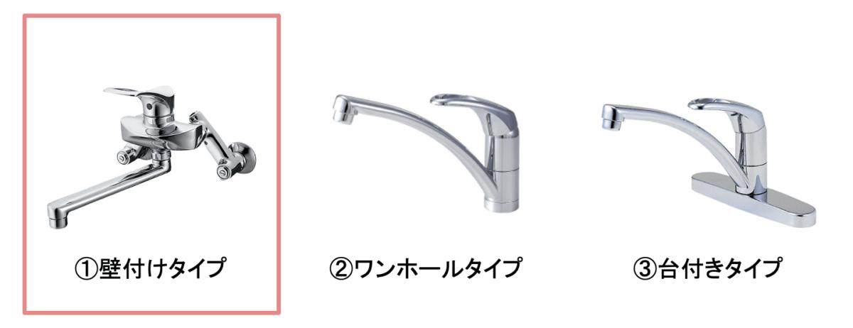 シングルレバー混合水栓の種類
