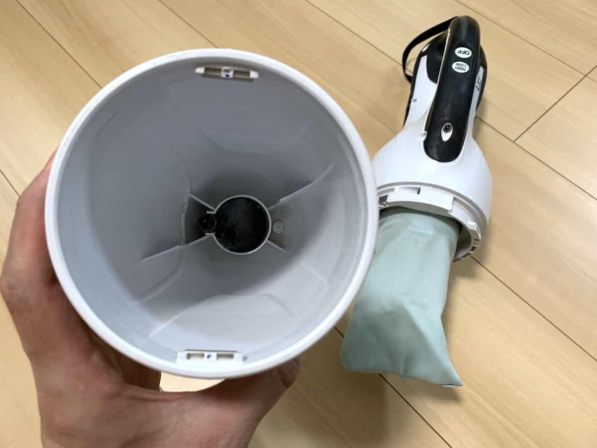 マキタ14.4Vコードレス掃除機CL141FDRFWのカプセル