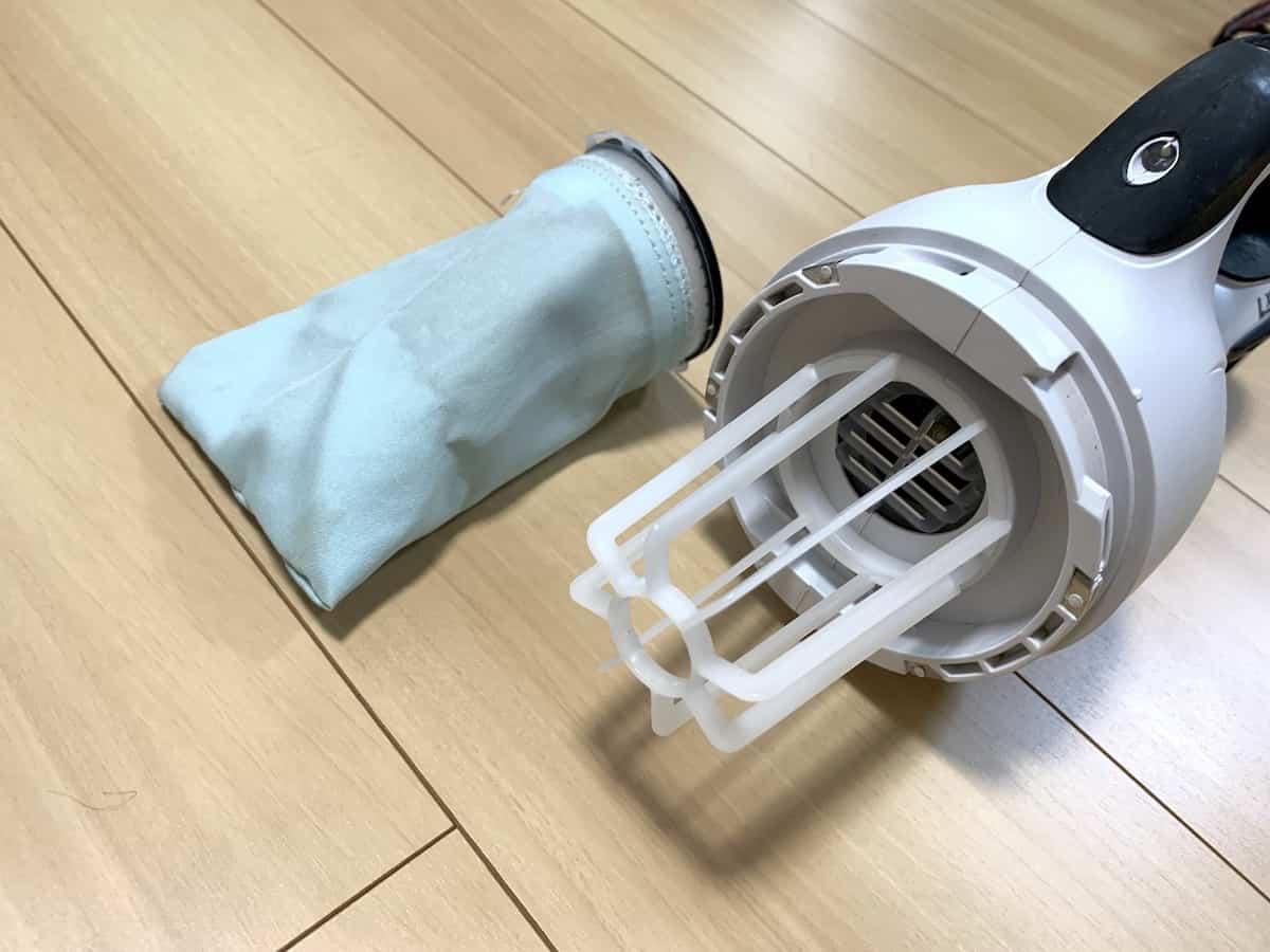 マキタ14.4Vコードレス掃除機CL141FDRFWの高性能フィルター