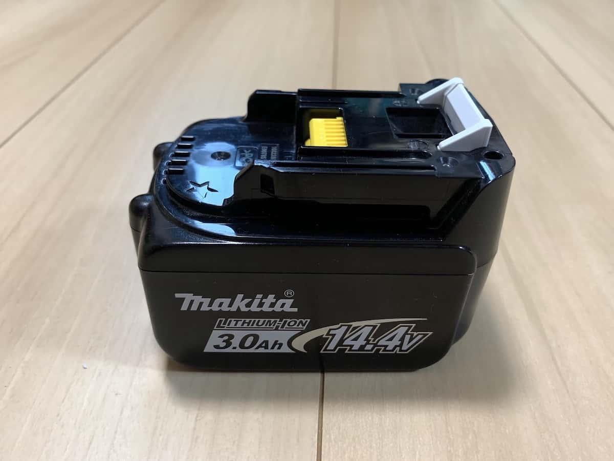マキタ14.4Vコードレス掃除機CL141FDの3.0Ahバッテリー
