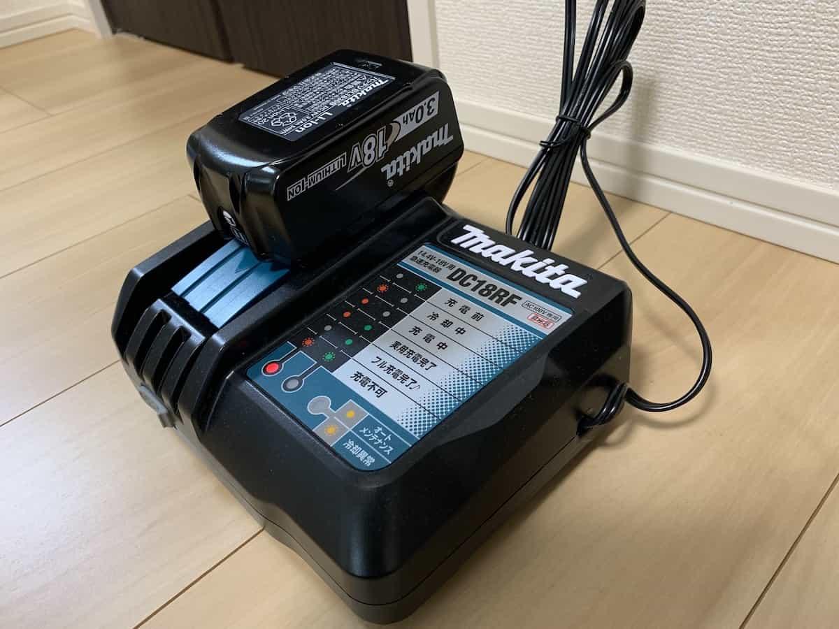マキタ18V3.0Ahバッテリーの充電③