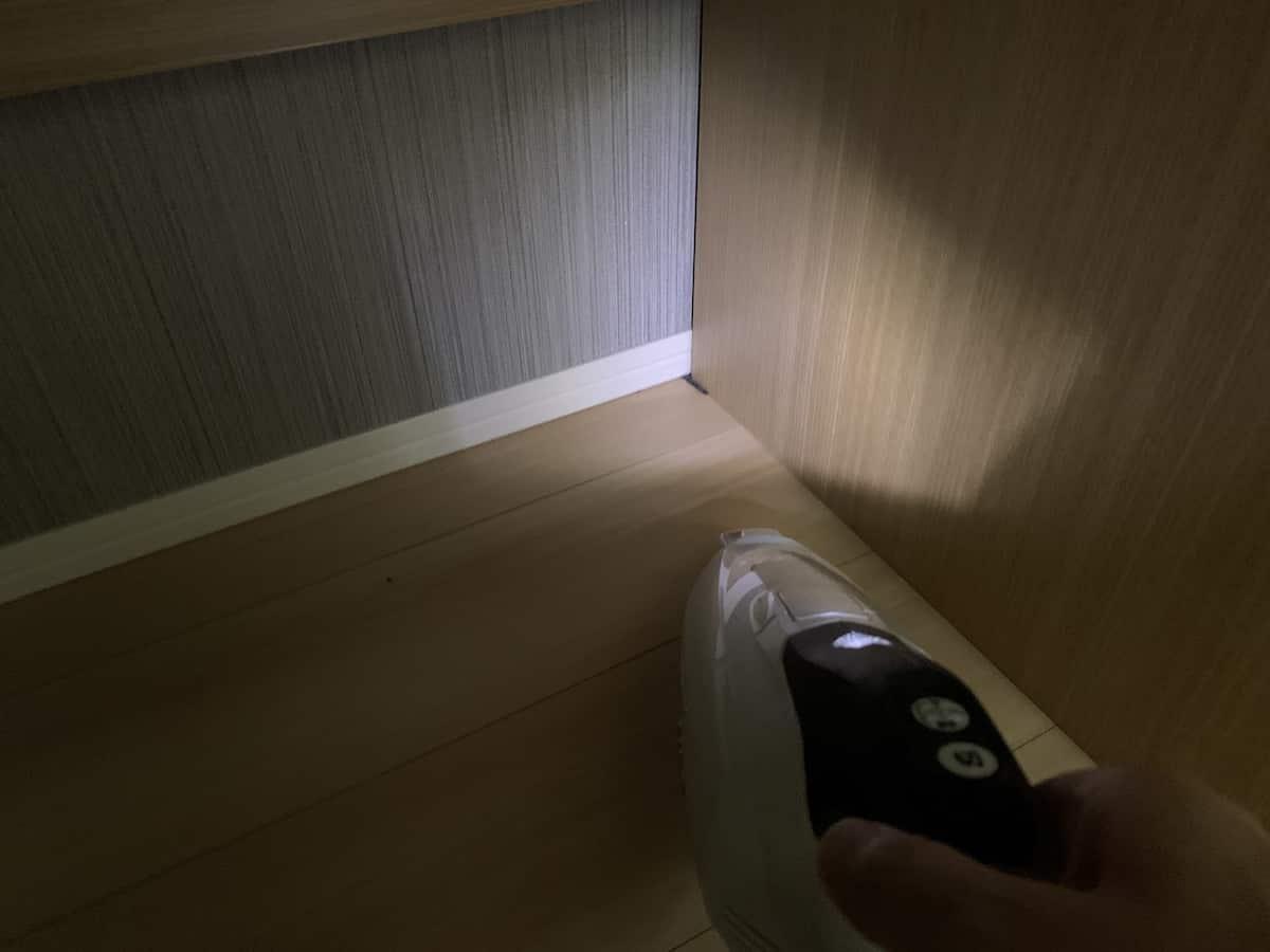 LED証明で照らす様子