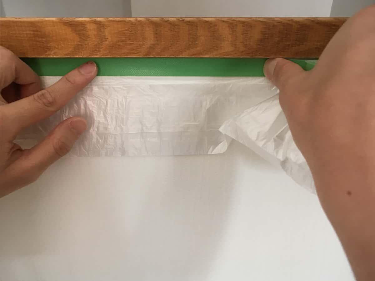 塗装前にペンキが付いて困るところは養生
