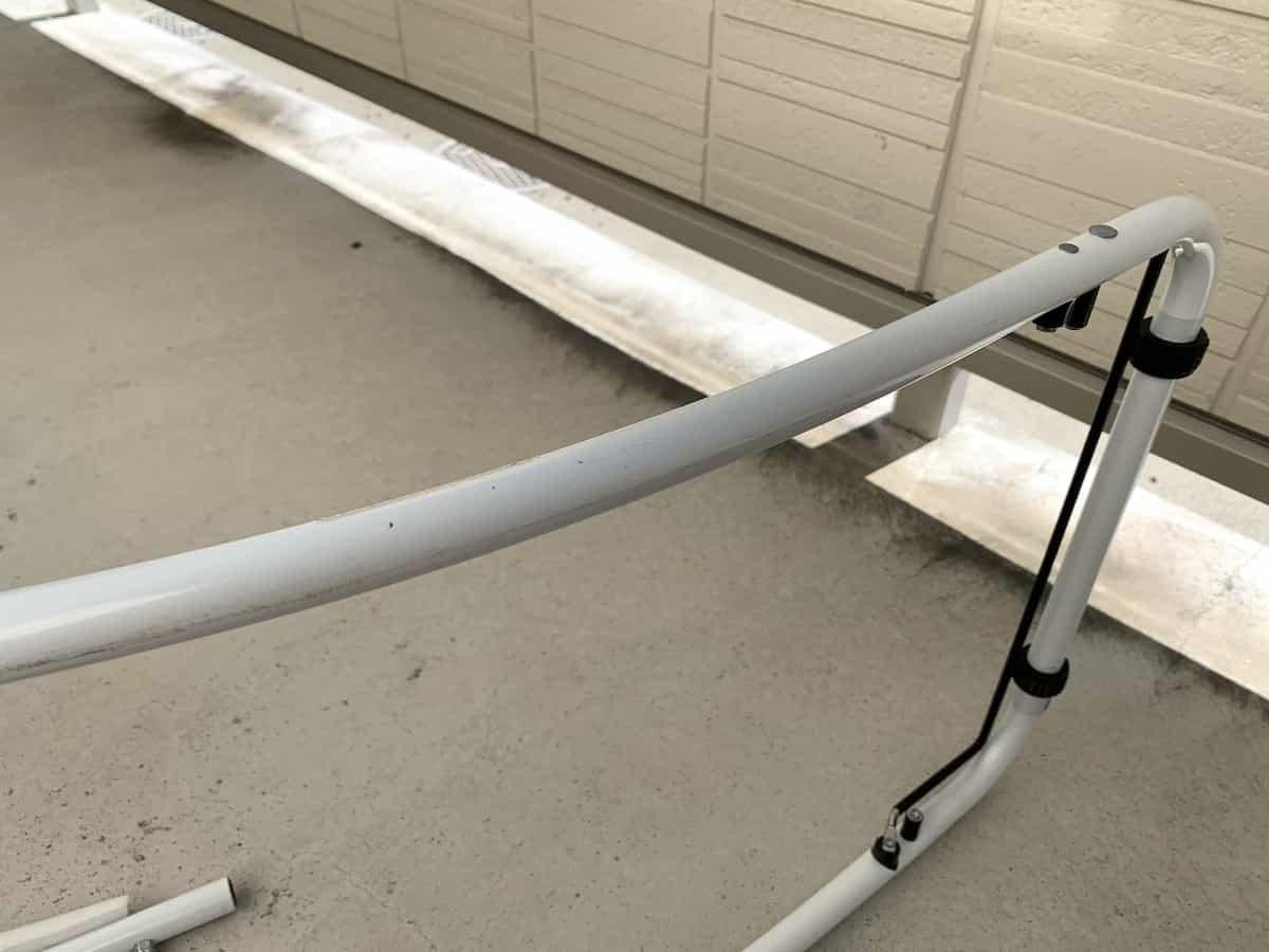 パイプカッターで切断する鉄パイプ(ステンレスパイプ)の拡大写真